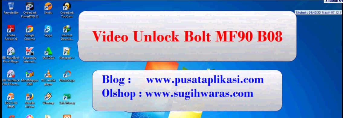 Video Unlock Bolt MF90 B08